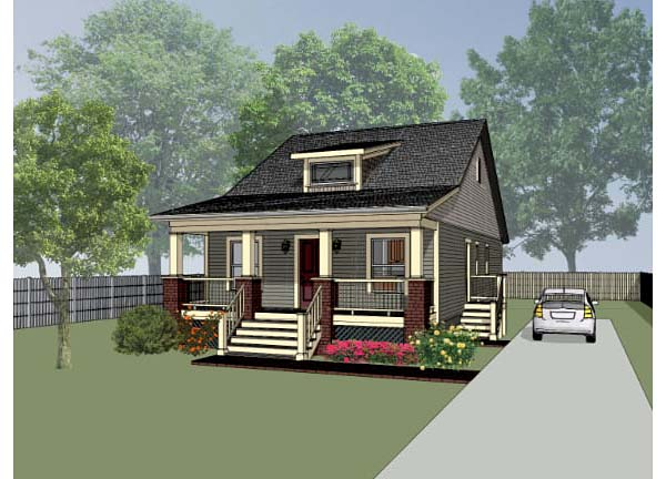 Bungalow House Plan 72709 with 3 Beds, 2 Baths Elevation