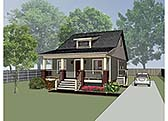 Plan Number 72709 - 1056 Square Feet