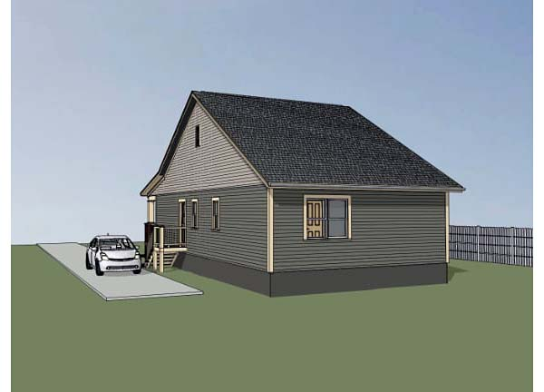 Bungalow House Plan 72709 with 3 Beds, 2 Baths Rear Elevation