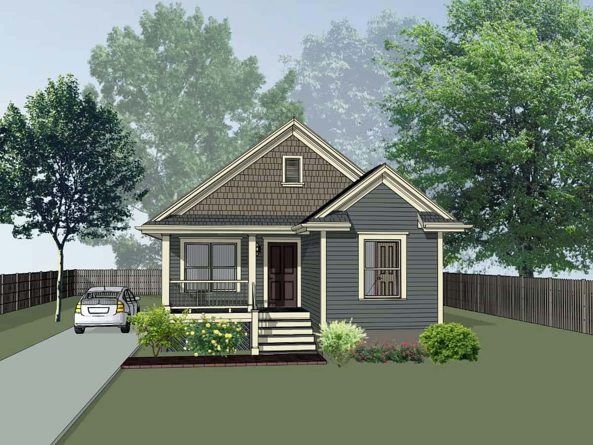 Bungalow House Plan 72719 with 4 Beds, 2 Baths Elevation