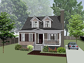 Bungalow House Plan 72722 Elevation