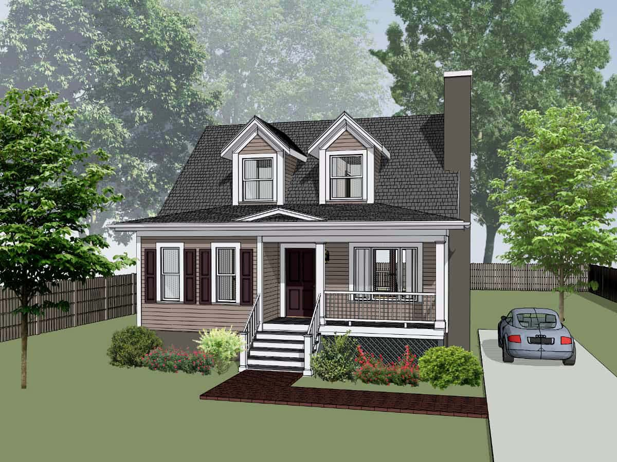Bungalow House Plan 72722 Elevation
