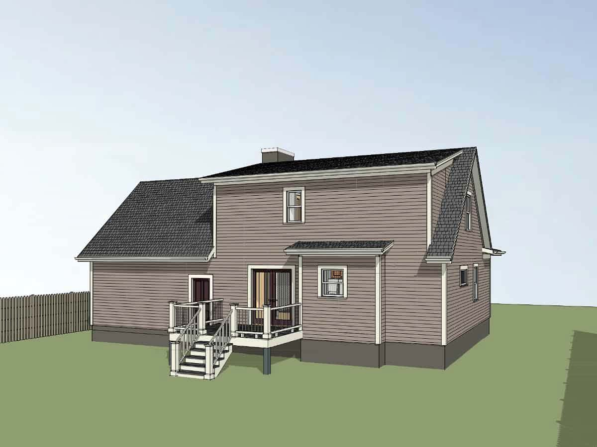 Bungalow House Plan 72725 with 3 Beds, 3 Baths, 2 Car Garage Picture 2