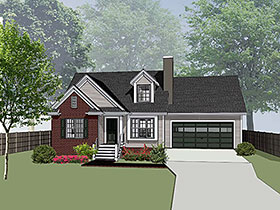 Bungalow House Plan 72726 Elevation