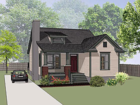 Bungalow House Plan 72727 Elevation