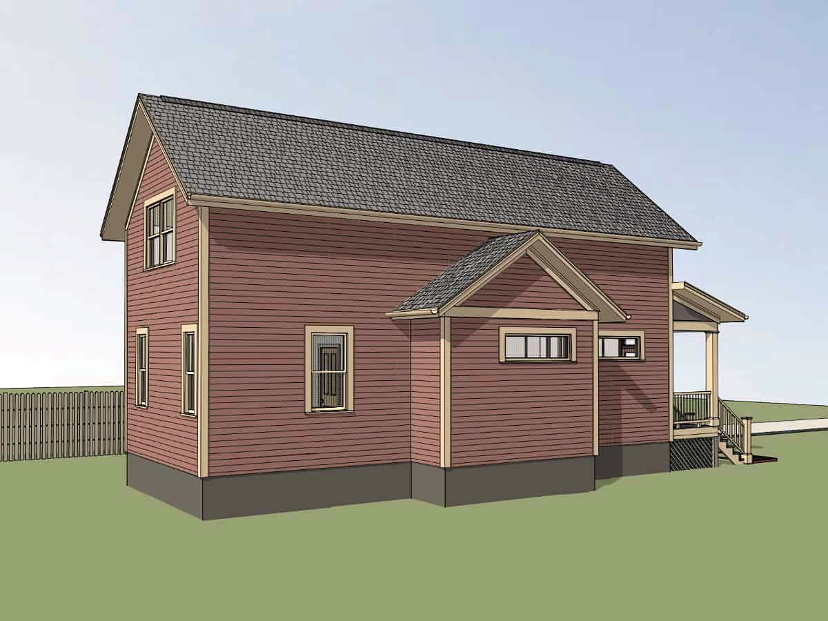 Bungalow House Plan 72729 with 3 Beds, 2 Baths, 1 Car Garage Picture 2