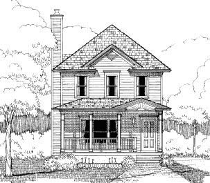 Bungalow House Plan 72731 with 3 Beds, 3 Baths, 2 Car Garage Elevation
