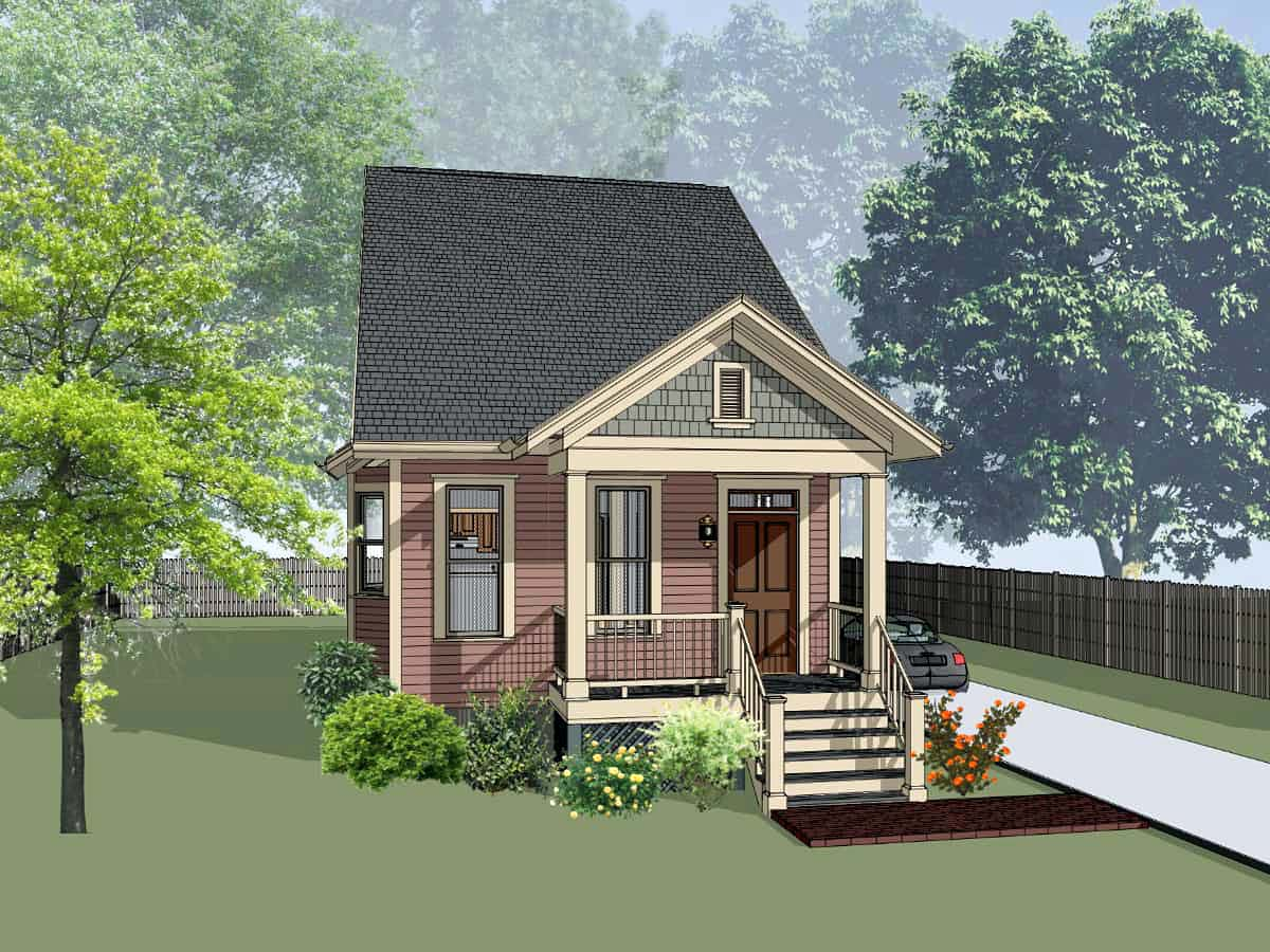 Bungalow House Plan 72733 with 3 Beds, 2 Baths Elevation