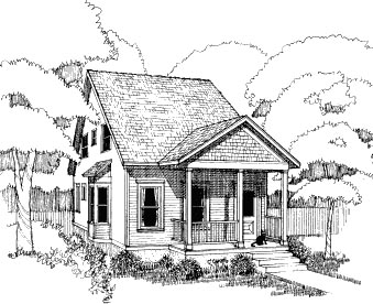 Bungalow House Plan 72734 with 4 Beds, 2 Baths Elevation