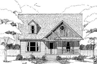 Bungalow House Plan 72743 with 3 Beds, 3 Baths Elevation