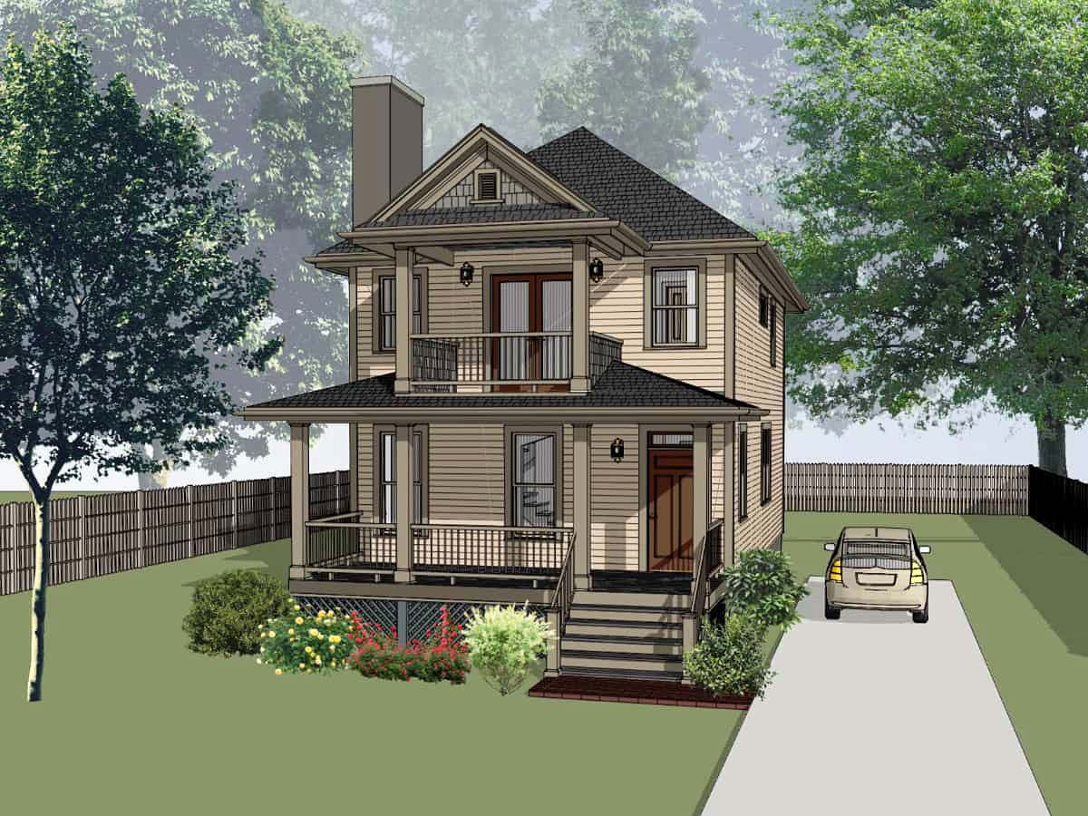 Bungalow House Plan 72745 with 3 Beds, 3 Baths Elevation