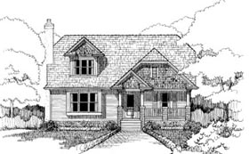 Bungalow House Plan 72751 Elevation