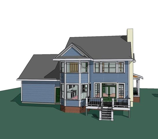 Bungalow House Plan 72754 Rear Elevation