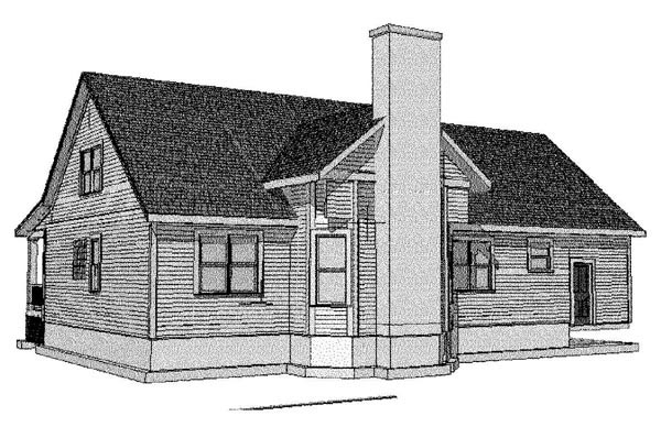 Bungalow House Plan 72755 Rear Elevation