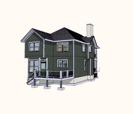 Coastal House Plan 72760 Rear Elevation