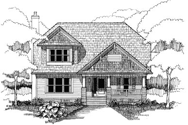 Bungalow House Plan 72762 with 4 Beds, 3 Baths Elevation