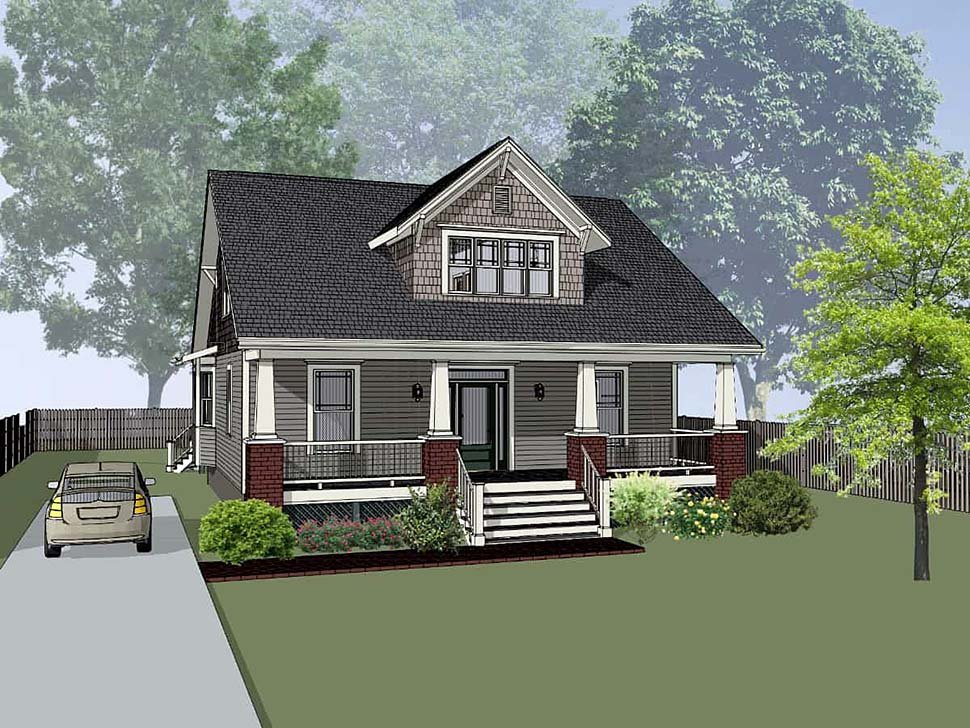 Bungalow House Plan 72763 Elevation