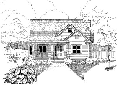 Bungalow House Plan 72764 Elevation