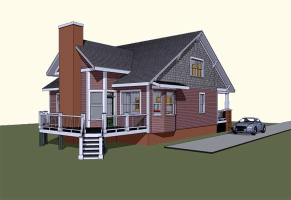 Country House Plan 72768 Rear Elevation
