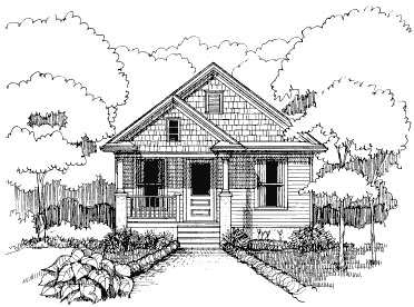 Bungalow , Elevation of Plan 72771