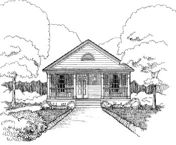 Bungalow , Elevation of Plan 72776