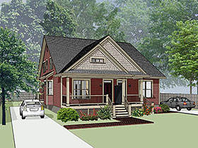Bungalow Multi-Family Plan 72780 Elevation