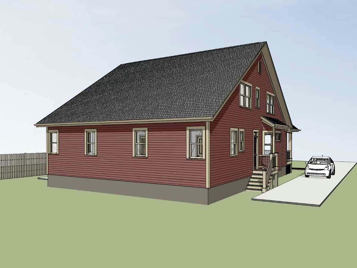 Bungalow Multi-Family Plan 72780 with 6 Beds, 4 Baths Picture 2