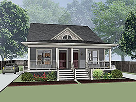 Multi-Family Plan 72786 | Style Plan with 2234 Sq Ft, 4 Bedrooms, 4 Bathrooms Elevation