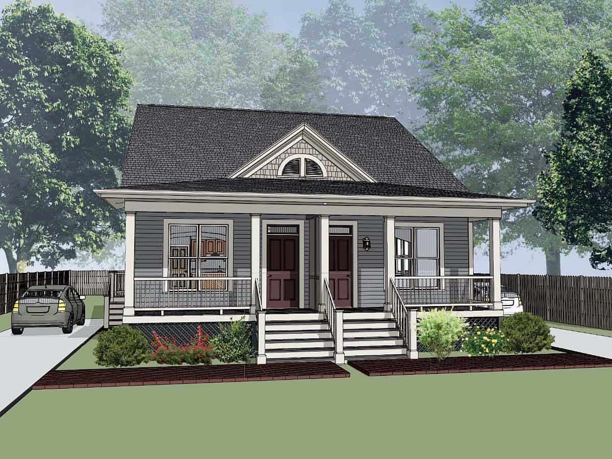 Multi-Family Plan 72786 Elevation
