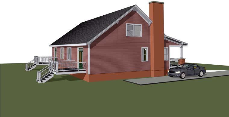 Multi-Family Plan 72789 Rear Elevation