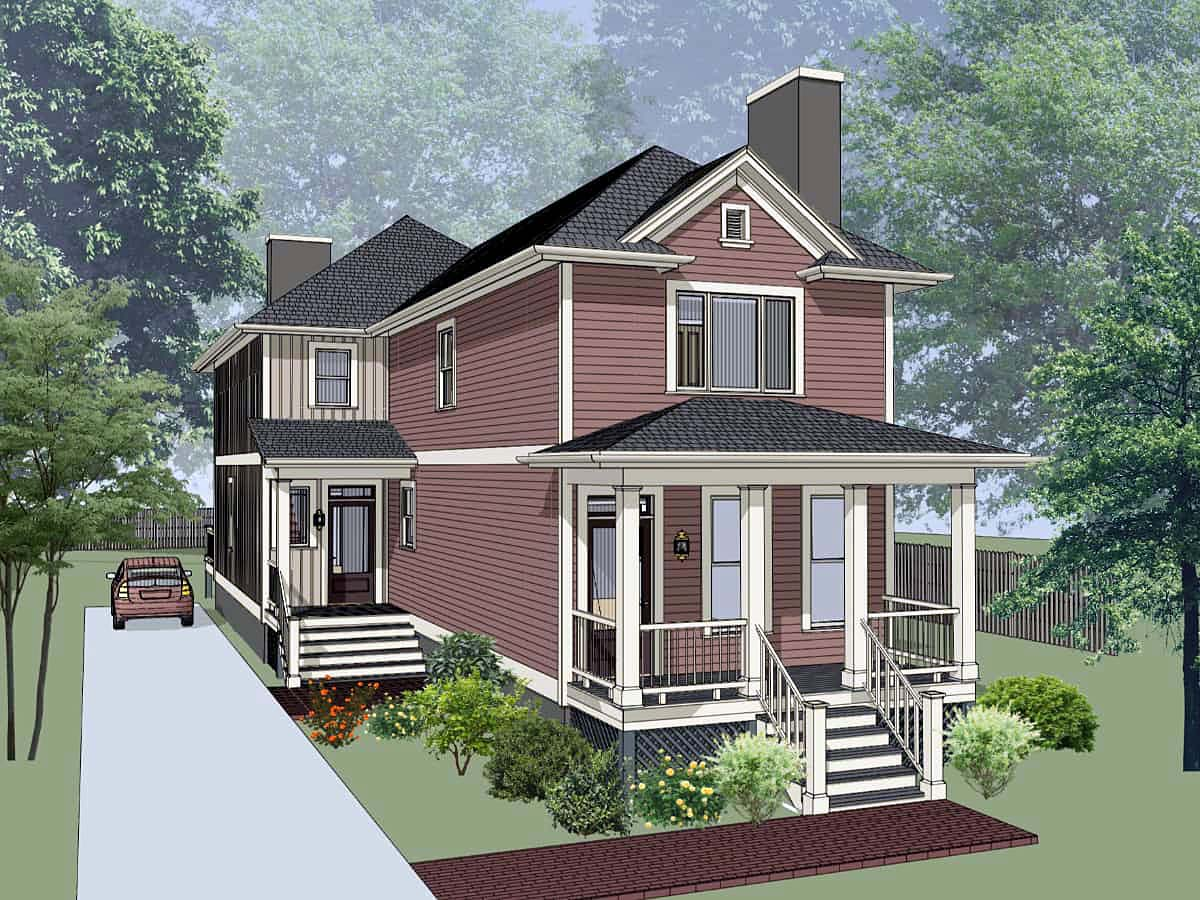 Multi-Family Plan 72792 Elevation