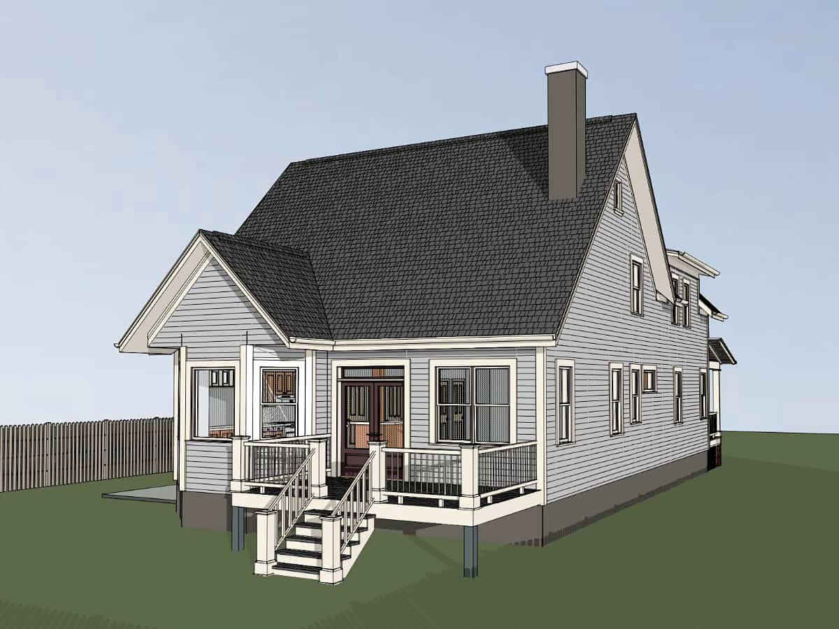 Country Southern Traditional House Plan 72794 Rear Elevation