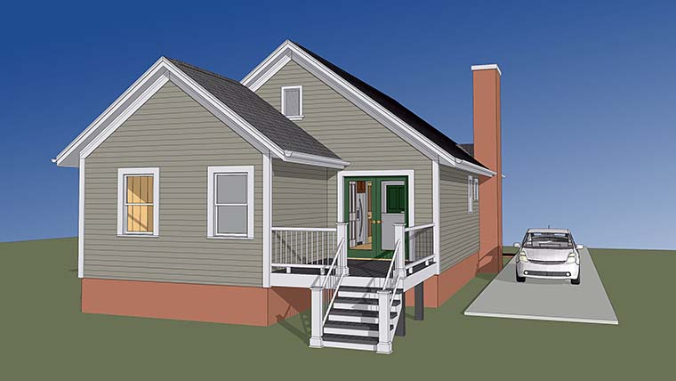 Ranch Traditional House Plan 72795 Rear Elevation