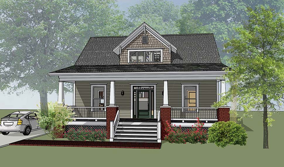 Bungalow Craftsman House Plan 72798 Elevation