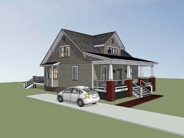 Bungalow, Craftsman House Plan 72798 with 3 Beds, 3 Baths Picture 1