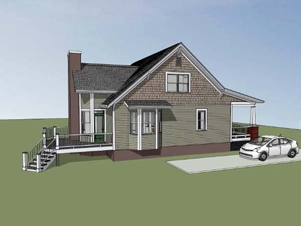 Bungalow, Craftsman House Plan 72798 with 3 Beds, 3 Baths Picture 2