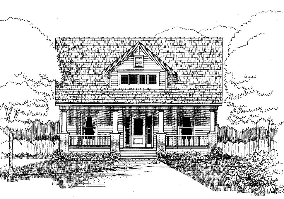 Bungalow, Craftsman House Plan 72798 with 3 Beds, 3 Baths Picture 3