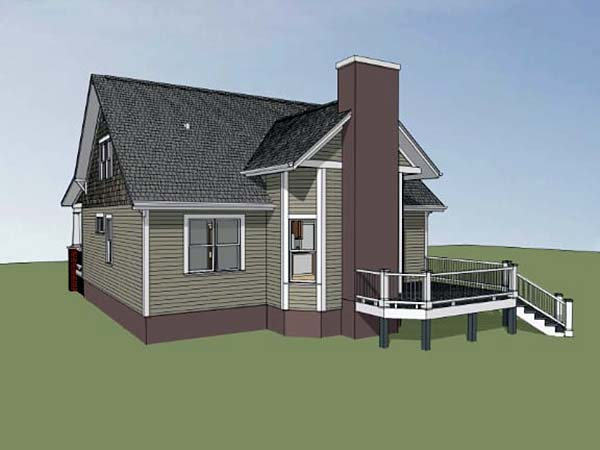 Bungalow Craftsman House Plan 72798 Rear Elevation
