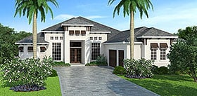 Coastal Mediterranean House Plan 72806 Elevation