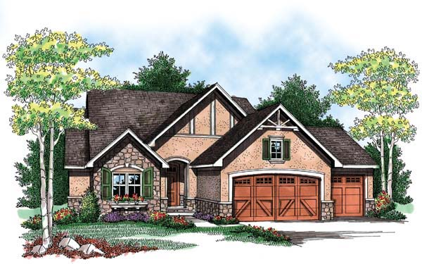 Country Craftsman Ranch Traditional House Plan 72900 Elevation