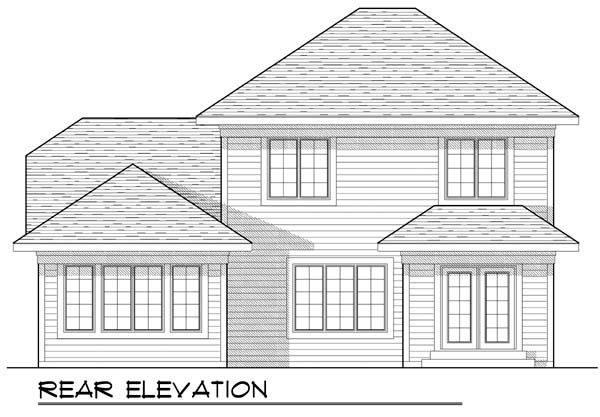 Country Craftsman House Plan 72901 Rear Elevation