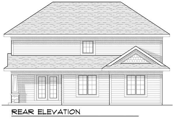 Craftsman House Plan 72902 Rear Elevation