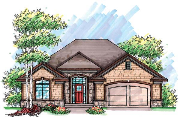 Cottage Country Craftsman Ranch House Plan 72903 Elevation