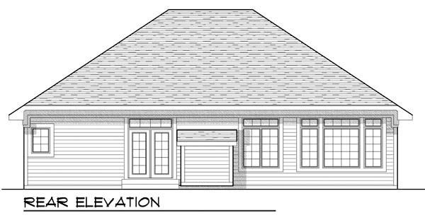 Cottage Country Craftsman Ranch House Plan 72903 Rear Elevation