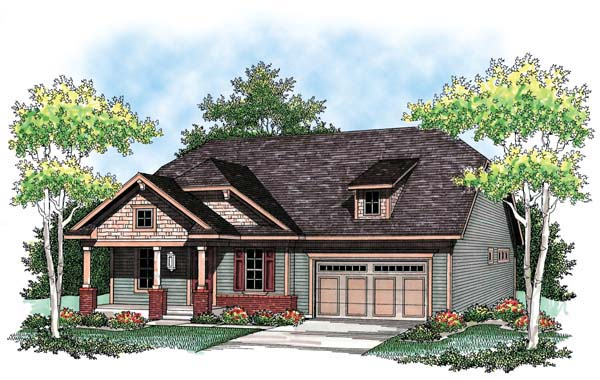 Cottage Country Craftsman Ranch House Plan 72904 Elevation