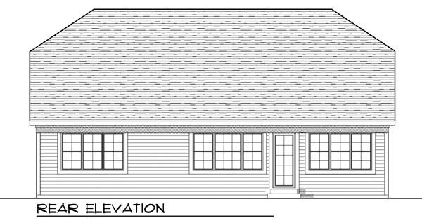 Cottage Country Craftsman Ranch House Plan 72904 Rear Elevation
