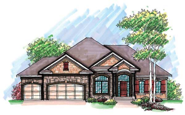 Country Craftsman Ranch Traditional House Plan 72905 Elevation