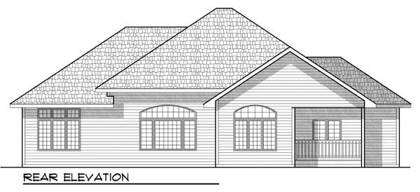 Country , Craftsman , Ranch , Traditional House Plan 72905 with 2 Beds, 2 Baths, 3 Car Garage Rear Elevation