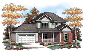 Traditional , Farmhouse House Plan 72906 with 3 Beds, 3 Baths, 2 Car Garage Elevation