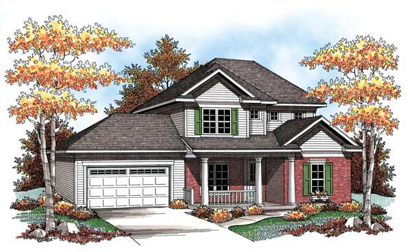 Farmhouse Traditional House Plan 72906 Elevation